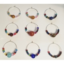 Natal Star Planet Wine Glass Charms