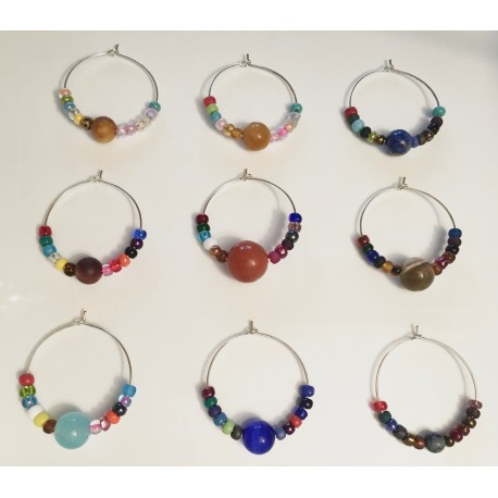 Planets of our Solar System Wine Glass Charms